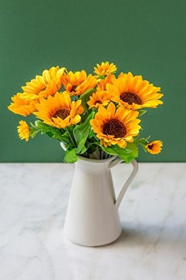 Arma House 2 Demet Sun Flower Yapay Çiçek Oranj